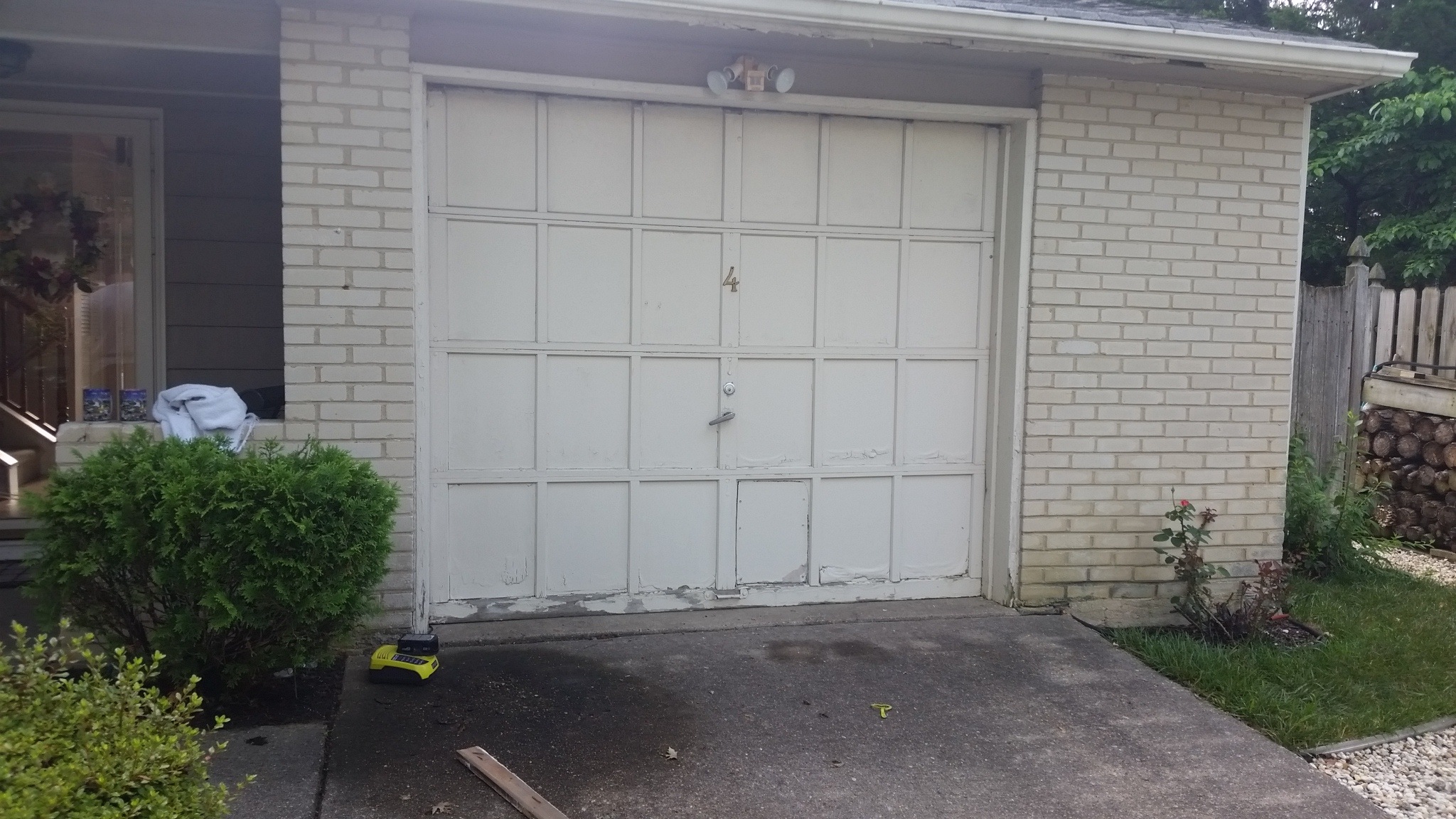 Before we installed a new clopay garage door